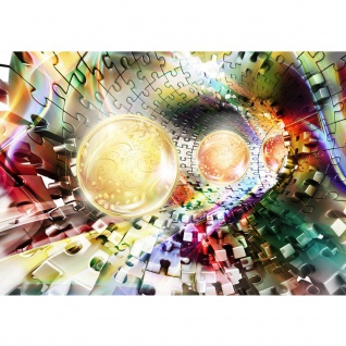 Fototapete Illustrationen Tapete Abstrakt Perle Ball Rechteck Tunnel Kunst gelb | no. 988