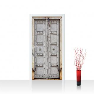 Türtapete - Sonstiges Tür Holz Antik Alt Kette | no. 4283 - Vorschau 1