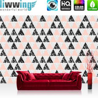 liwwing Vlies Fototapete 208x146cm PREMIUM PLUS Wand Foto Tapete Wand Bild Vliestapete - Texturen Tapete Polygone Dreiecke Rauten bunt - no. 3466