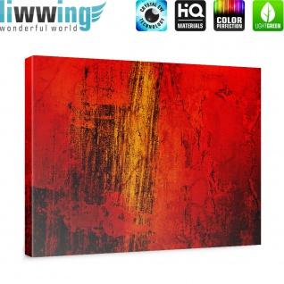 Leinwandbild Paint it Red abstrakt 3D Wand Rot braun Hintergrund   no. 103 - Vorschau 5
