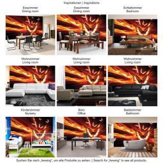 liwwing Vlies Fototapete 104x50.5cm PREMIUM PLUS Wand Foto Tapete Wand Bild Vliestapete - Illustrationen Tapete Schmetterling Illustration Feuer rot - no. 1289 - Vorschau 5