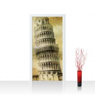 Türtapete - Pisa Turm Vintage | no. 537