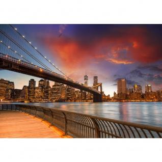 Fototapete New York Bridges Skyline USA Tapete New York City USA Amerika Empire State Building Big Apple orange | no. 21