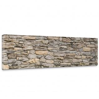 Leinwandbild Steinwand Steinoptik Steine Wand Mauer Stein   no. 166