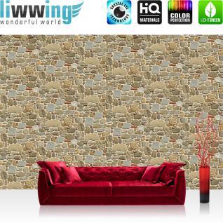 liwwing Vlies Fototapete 104x50.5cm PREMIUM PLUS Wand Foto Tapete Wand Bild Vliestapete - Steinwand Tapete Steinoptik Steintapete beige - no. 2298