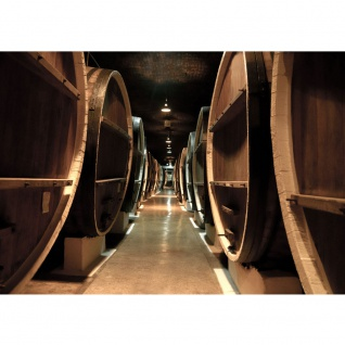 Fototapete Old Wine Barrels Kunst Tapete Weinkeller Weinfässer Fass Fässer Keller Stollen braun   no. 58