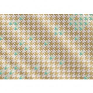 Fototapete Illustrationen Tapete Abstrakt Zeichen Muster blau beige gold gold   no. 359