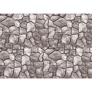 Fototapete Steinwand Tapete Steinweg Muster Texturen Steine Mosaik grau | no. 2708
