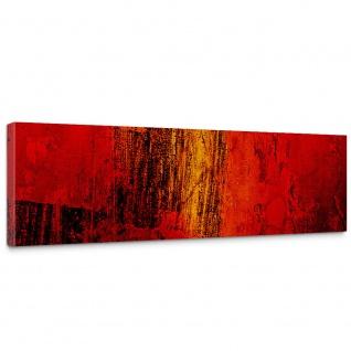 Leinwandbild Paint it Red abstrakt 3D Wand Rot braun Hintergrund | no. 103