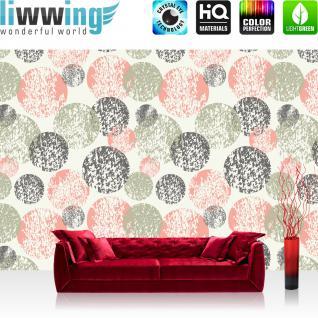 liwwing Fototapete 368x254cm PREMIUM Wand Foto Tapete Wand Bild Papiertapete - Texturen Tapete Kugeln Kreise Perlen Murmeln bunt - no. 3464