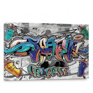 Leinwandbild Kinder Graffiti Dosen Schriftzug | no. 674