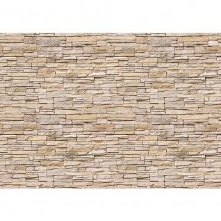 Fototapete Asian Stone Wall - beige - kleinere Steine - anreihbare Tapete Steinwand Steinoptik Wand grau | no. 141