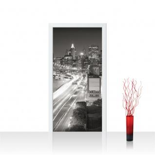 Türtapete - Skyline Straße New York Lightning | no. 553