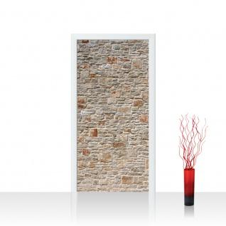 Türtapete - Royal Stone Wall Steinwand Steine Wand Wall 3D Effekt alte Mauer | no. 82