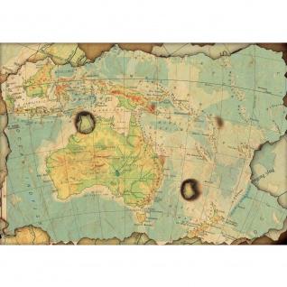 Fototapete Städte & Länder Tapete Landkarte Welt Kontinent Vintage Globus blau | no. 4315