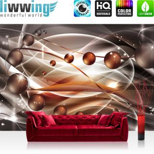 liwwing Vlies Fototapete 312x219cm PREMIUM PLUS Wand Foto Tapete Wand Bild Vliestapete - Kaffee Tapete Kaffebohnen Licht Feuer braun - no. 1658