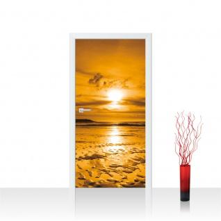 Türtapete - Meer Strand Himmel Sonnenuntergang | no. 814