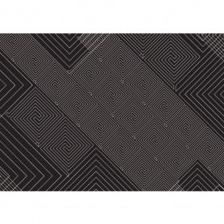 Fototapete Illustrationen Tapete Abstrakt Ornamente Muster schwarz-weiß schwarz - weiß | no. 400