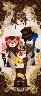 Türtapete - Kindertapete Cartoon Bären Uhr Zeit Hut Ornament Flügel   no. 788 - Vorschau 5