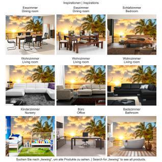 liwwing Vlies Fototapete 350x245 cm PREMIUM PLUS Wand Foto Tapete Wand Bild Vliestapete - DREAM BEACH - Strand Meer Sonnenaufgang Beach Wasser Blau Himmel Sonne Sommer - no. 042 - Vorschau 5