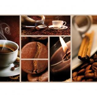 Fototapete Kaffee Tapete Bohnen Tasse Kerze Kaffeebohnen braun | no. 2492