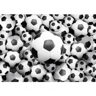 Fototapete Fußball Tapete Fussbälle Sport Soccer Fussball WM Football schwarz - weiß | no. 977