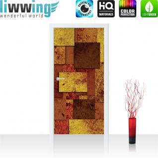 liwwing Türtapete selbstklebend 91x211 cm PREMIUM PLUS Tür Fototapete Türposter Türpanel Foto Tapete Bild - Abstrakt Rechtecke 3D Optik - no. 889