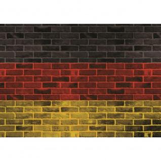 Fototapete Steinwand Tapete Steinoptik Steine Deutschland Malerei Flagge anthrazit   no. 2504
