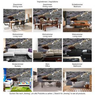 liwwing Vlies Fototapete 416x254cm PREMIUM PLUS Wand Foto Tapete Wand Bild Vliestapete - Kunst Tapete Abstrakt Design Muster Sterne Schneeflocke grau - no. 2055 - Vorschau 5