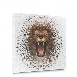 Leinwandbild Löwe Abstraktion Geometrie Katze Tiger | no. 4566