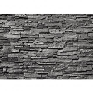 Fototapete Noble Stone Wall - anthrazit - ENDLOS anreihbar Tapete Steinwand Steinoptik Steine Wand Wall grau   no. 131