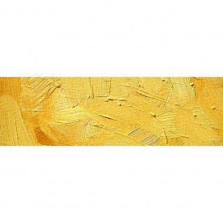 Leinwandbild Wall of yellow shades Wand Spachtel Hintergrund farbige Wand gelb   no. 107 - Vorschau 3