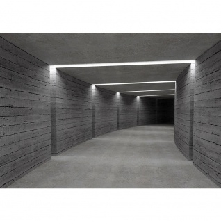 Fototapete Architektur Tapete Tunnel Wand Licht Architektur Holzwand Holz grau | no. 2042
