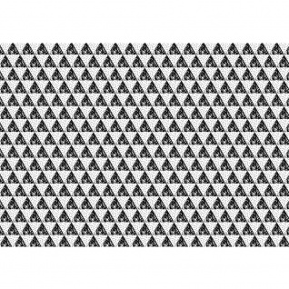 Fototapete Gemälde & Kunstwerke Tapete Abstraktion Design Modern Mosaik Dreieck schwarz - weiß | no. 4424