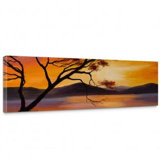 Leinwandbild Sonnenuntergang Baum Natur Romantisch Urlaub | no. 241 - Vorschau 1