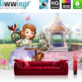 liwwing Fototapete 368x254 cm PREMIUM Wand Foto Tapete Wand Bild Papiertapete - Disney Tapete Sophia Prinzessin Cartoons Illustration bunt - no. 1224