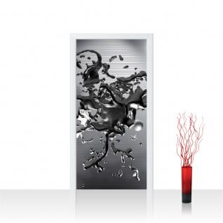 Türtapete - Abstrakt Blei Flüssig 3D Optik | no. 886