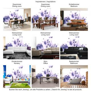 liwwing Fototapete 368x254 cm PREMIUM Wand Foto Tapete Wand Bild Papiertapete - Pflanzen Tapete Pusteblume Tropfen Pflanzen Wasser Wellness lila - no. 311 - Vorschau 5
