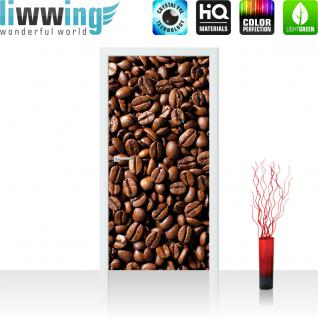 liwwing Türtapete selbstklebend 91x211 cm PREMIUM PLUS Tür Fototapete Türposter Türpanel Foto Tapete Bild - Kaffee Bohnen - no. 521