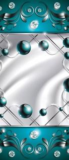 Türtapete - Abstrakt Ornamente Perlen Diamant Gitter Welle | no. 740 - Vorschau 5