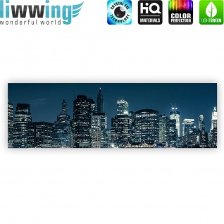 Leinwandbild New York Blue Night Skyline New York City USA Amerika Big Apple | no. 22 - Vorschau 4