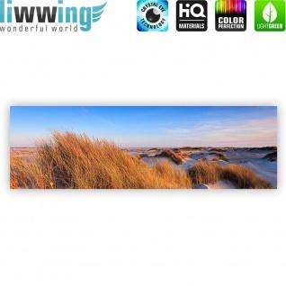 Leinwandbild Strand Düne Wasser Beach Ausblick | no. 246 - Vorschau 4