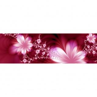 Leinwandbild Red Flower Ornaments Ornamente Blumen Orchidee Rot Blumenranke | no. 40 - Vorschau 3