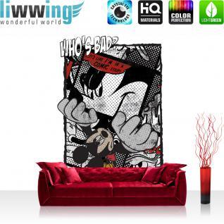 liwwing Fototapete 368x254 cm PREMIUM Wand Foto Tapete Wand Bild Papiertapete - Holz Tapete Holzoptik Streifen Muster Ornamente braun - no. 3052