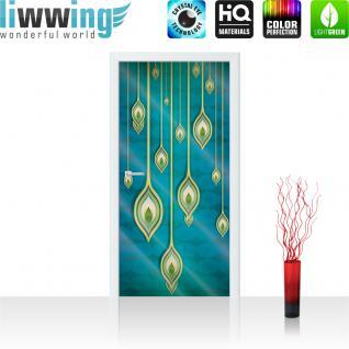liwwing Vlies Türtapete 91x211 cm PREMIUM PLUS Tür Fototapete Türposter Türpanel Foto Tapete Bild - Abstrakt Streifen - no. 365
