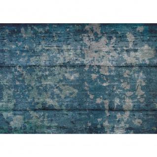 Fototapete Holz Tapete Holzoptik Kacheln Streifen Vintage blau   no. 2131