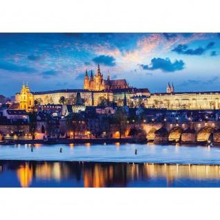 Fototapete Landschaft Tapete Schloss See Himmel Licht Wasser Spiegelung blau   no. 3028