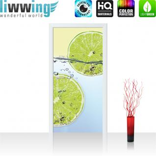 liwwing Vlies Türtapete 91x211 cm PREMIUM PLUS Tür Fototapete Türposter Türpanel Foto Tapete Bild - Coffee Bohnen Tasse - no. 295