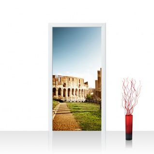 Türtapete - Colosseum Walk - Rome Rom Kolosseum Italien Landschaft Architektur | no. 52