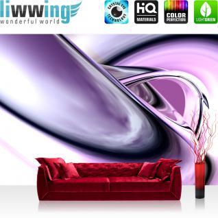 liwwing Vlies Fototapete 400x280 cm PREMIUM PLUS Wand Foto Tapete Wand Bild Vliestapete - PURPLE CLIMAX - 3D Digital Art Abstrakt Schwung Wirbel blau rot lila - no. 009